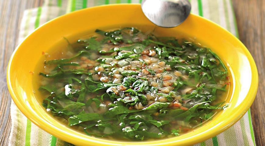 Рецепт Щи постные зеленые со снытью и крапивой