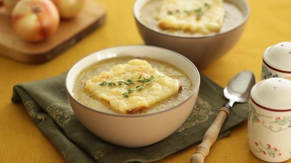 Луковый суп по-лионски