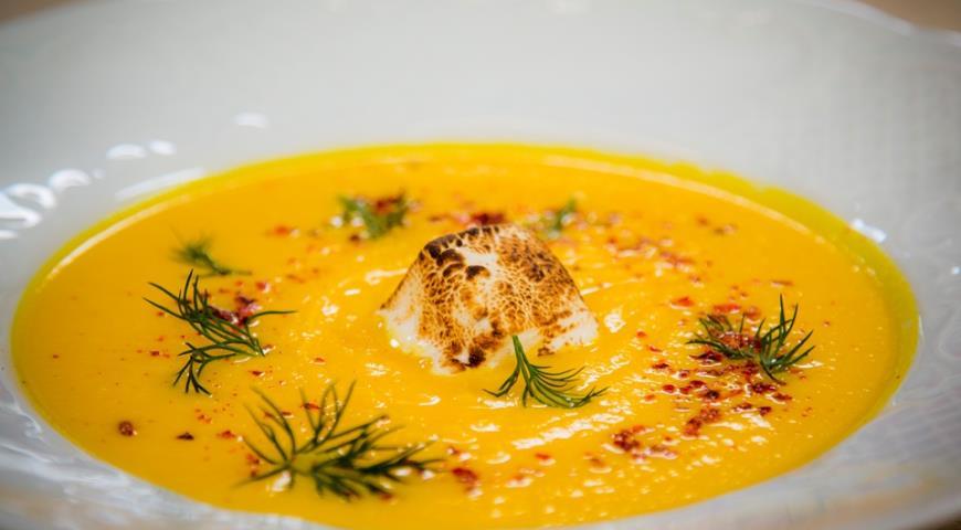 Рецепт Морковно-имбирный суп с маршмеллоу