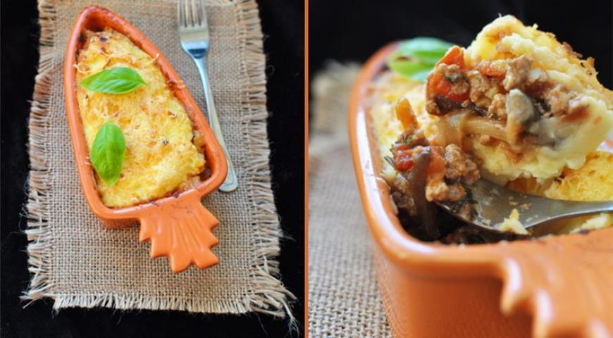Рецепт Картофельная запеканка с овощами-микс и мясным фаршем