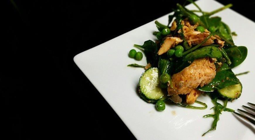 Рецепт Филе лосося и овощами в горчичном соусе