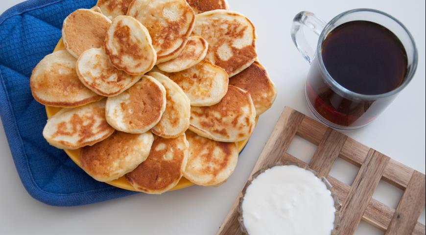 Рецепт Оладьи на кефире с яйцом и сыром