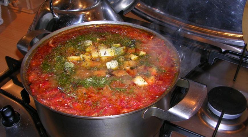 Вегетарианский свекольный супчик, пошаговый рецепт с фото