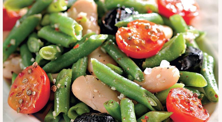 Рецепт Теплый фасолевый салат