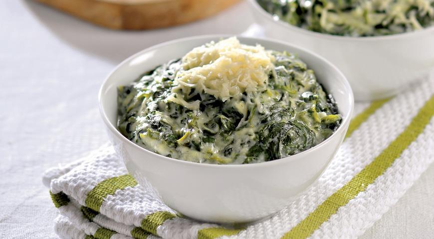 Рецепт Каша из шпината