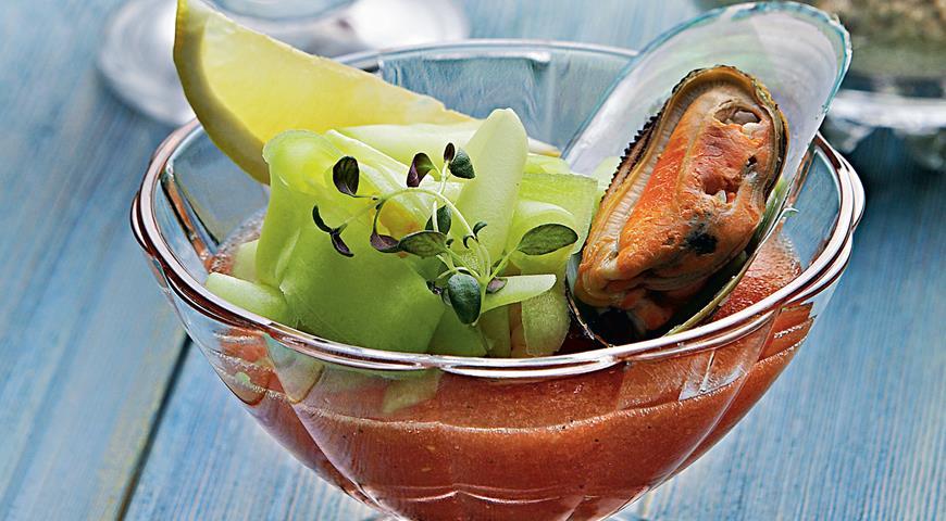 Рецепт Томатное желе с приправой из мидий