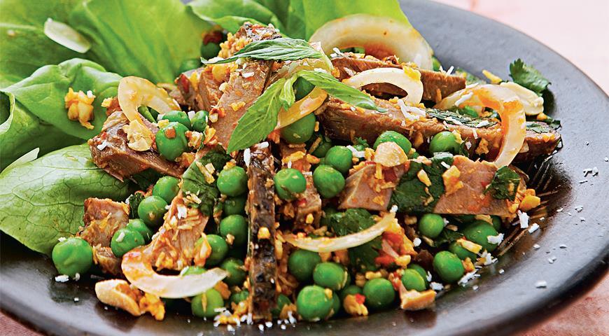 Рецепт Салат из ягненка в азиатском стиле
