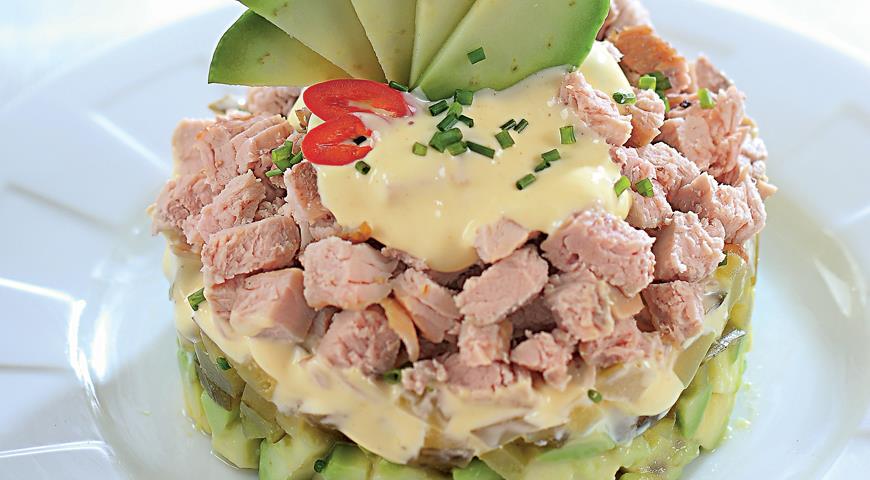 Рецепт Салат из запеченного мяса