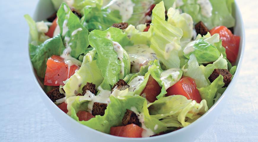 салат из листового салата рецепт