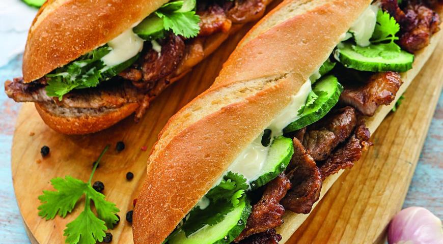 Рецепт Сэндвичи со свининой на гриле