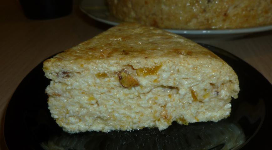 Рецепт Творожный пудинг с абрикосами
