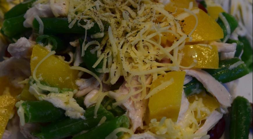 рецепт салат курица с ананасами слоеный рецепт с фото