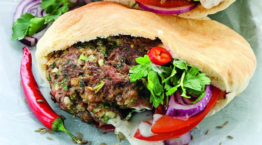 Рецепт Восточный бургер