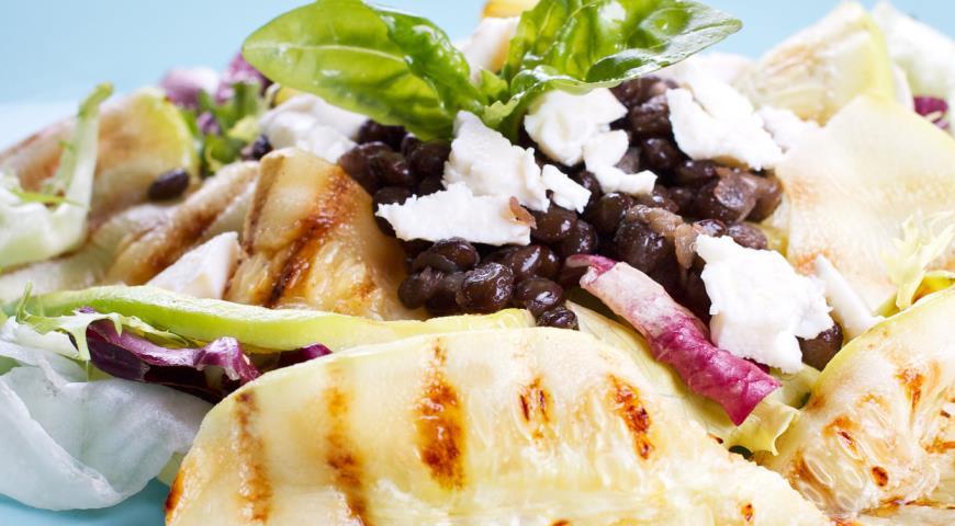 Рецепт Летний салат с кабачками-гриль