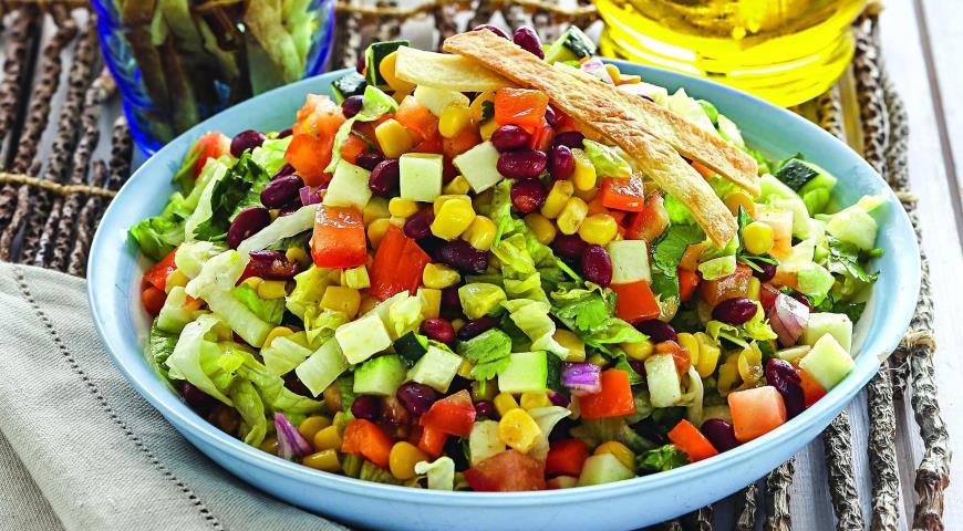 Мексиканский салат, пошаговый рецепт с фото