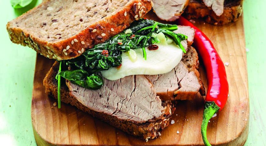 Рецепт Сэндвичи с мясом на гриле