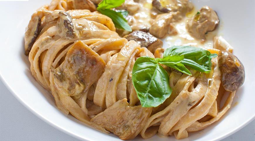 Рецепт Тальятелле с белыми грибами