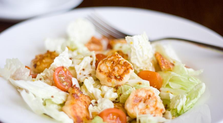 Рецепт Салат с сырниками