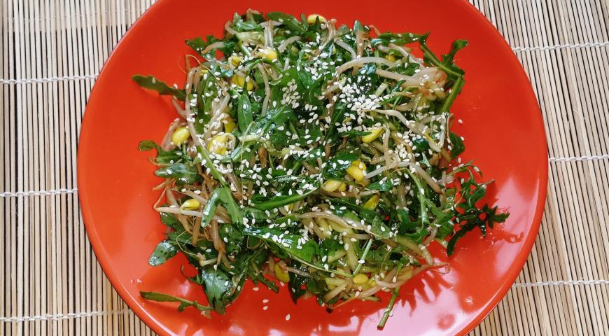 пошаговые рецепты салатов с фото из руколы