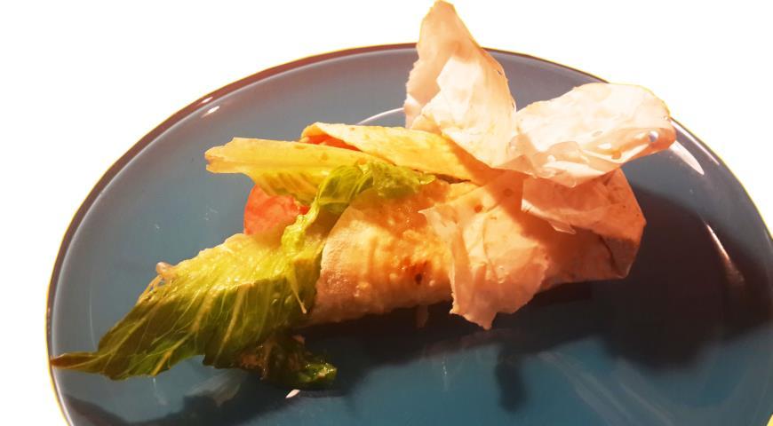 Рецепт Баранья шейка в сухом блине с корицей