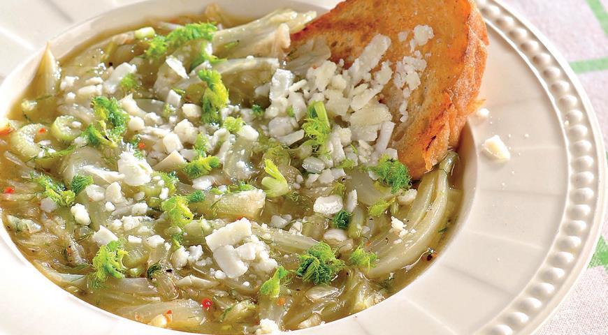 Рецепт Суп из фенхеля с овечьим сыром