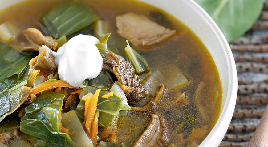 Рецепт Щи из капустной рассады с грибами