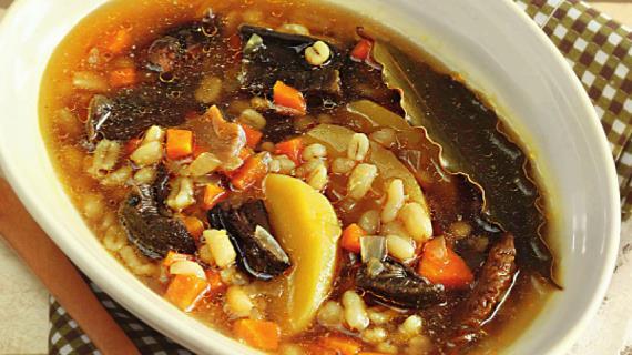 Суп грибной в мультиварке с перловкой пошаговый рецепт с фото