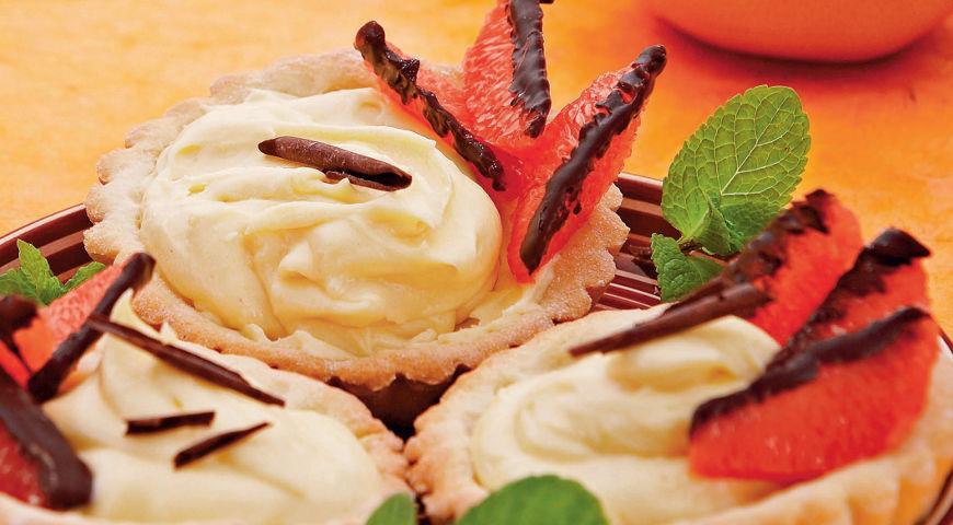 Рецепт Тарталетки с кремом из грейпфрута