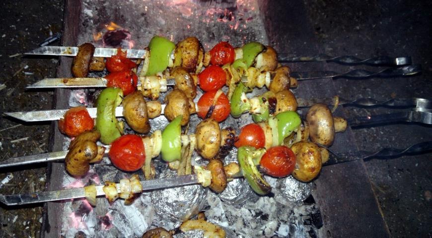Рецепт Шампиньоны на мангале