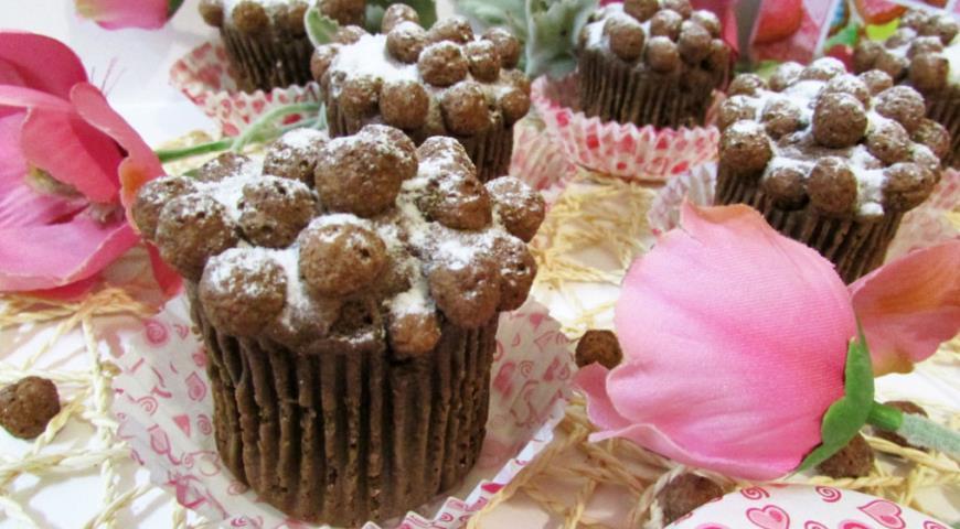 Рецепт Кексы из мороженого с шоколадными шариками