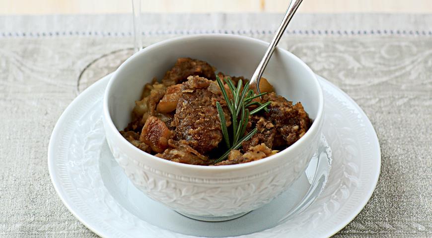Рецепт Печенка цесарки с луково-яблочным соусом