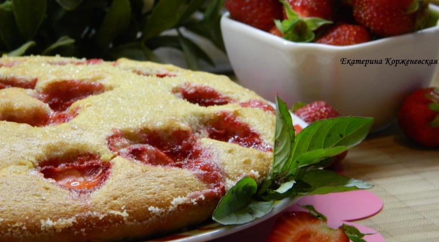 Рецепт Клубнично-коричный пирог