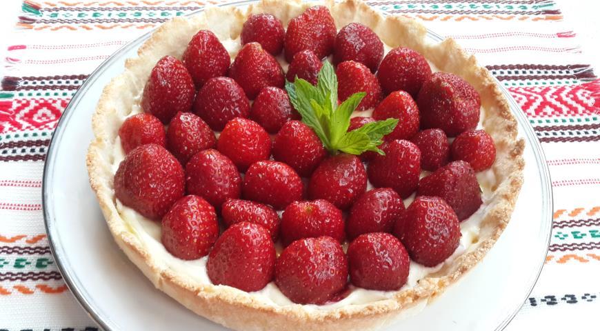 Рецепт Клубничный тарт из рисовой муки