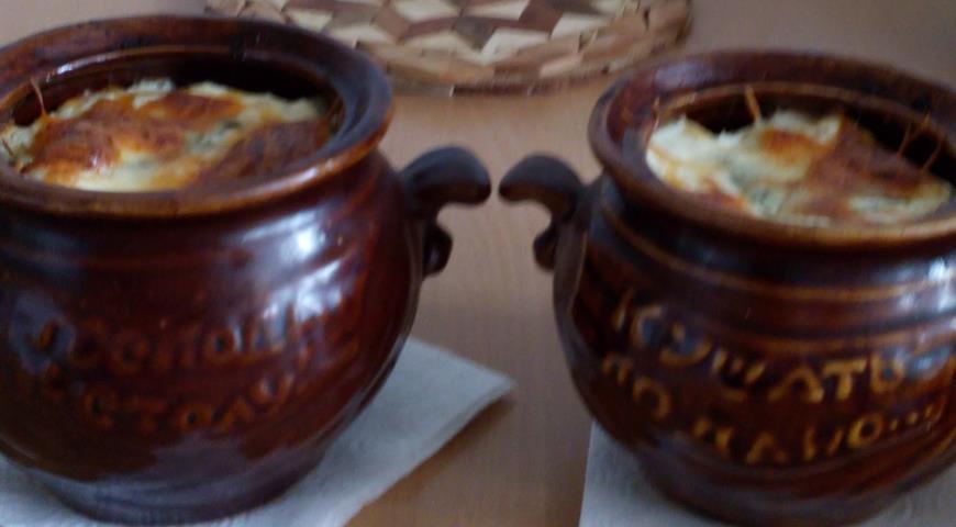 Рецепт Грибное рагу с картофелем в горшочках