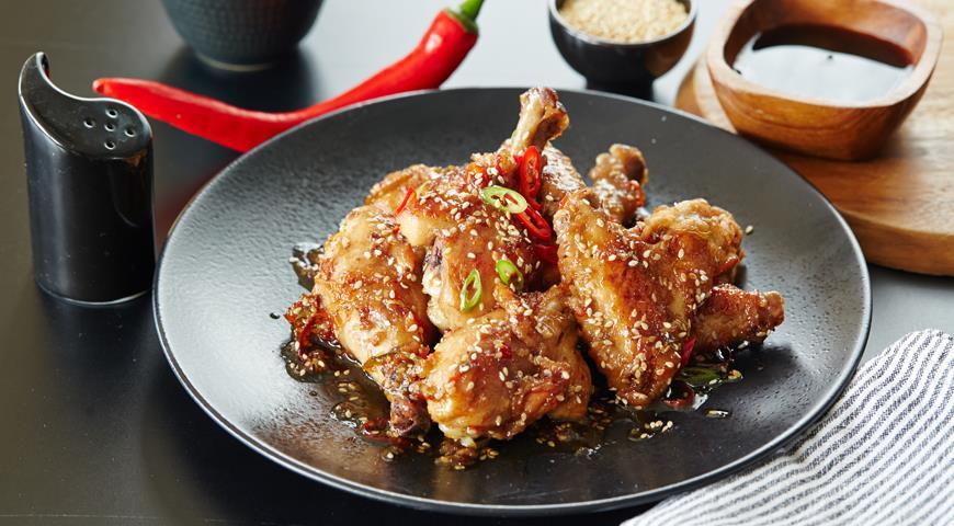 Рецепт Куриные бедрышки в кисло-сладком маринаде