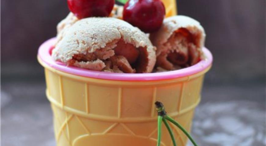 Рецепт Вишневое сорбе с йогуртом
