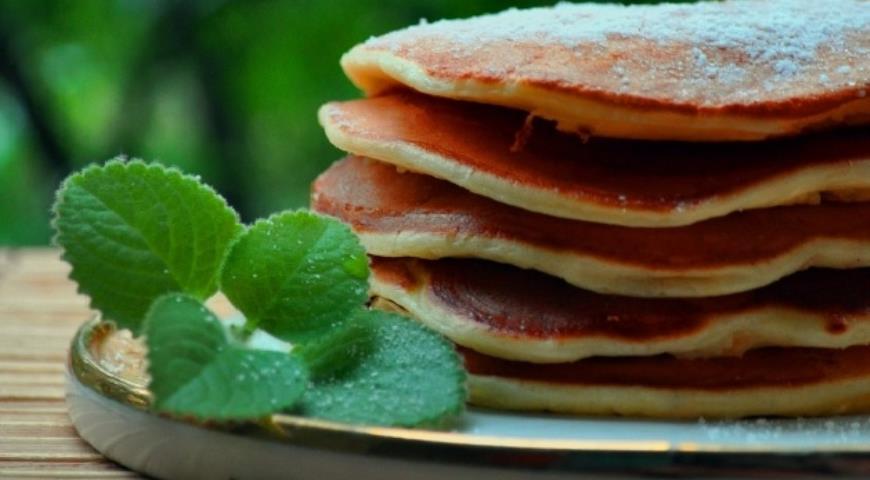Рецепт Панкейки творожные с яблоком