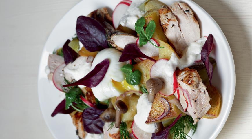 салат мясо по деревенски рецепт