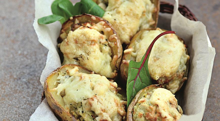 Рецепт Запеченный картофель, фаршированный цесаркой