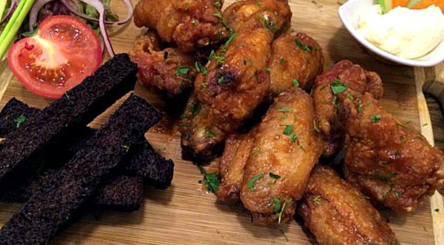 Рецепт Куриные крылья в соусе барбекю