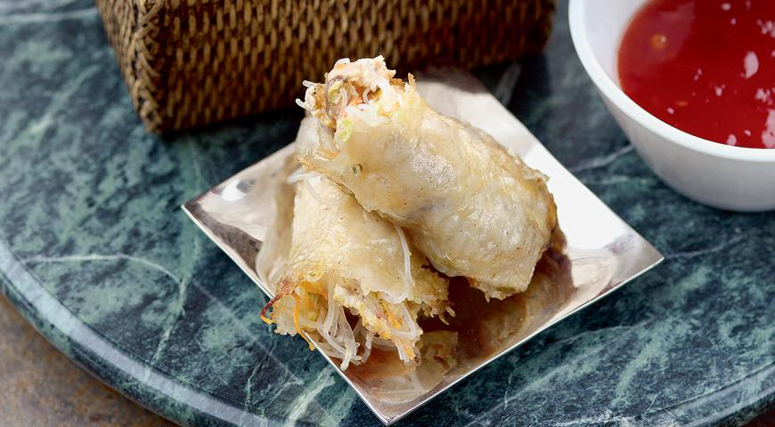Рецепт Спринг-роллы с цесаркой и креветками