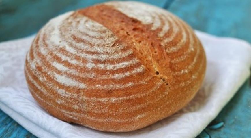 Рецепт Хлеб пшеничный на ржано-пшеничной закваске (ночная выстойка в холоде)