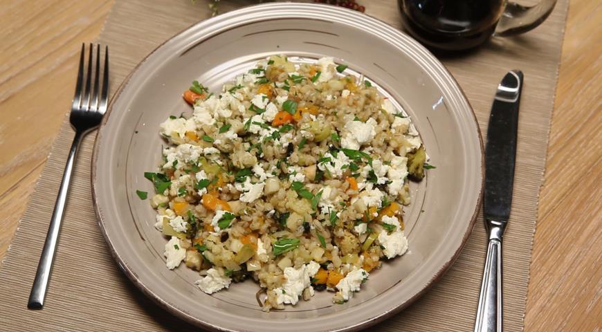 Рецепт Перлотто с овощами и адыгейским сыром