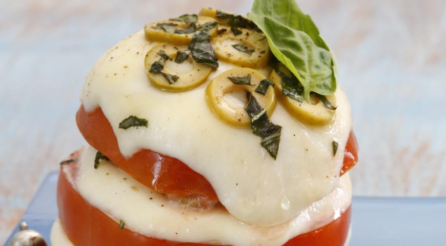 Рецепт Теплый салат Капри