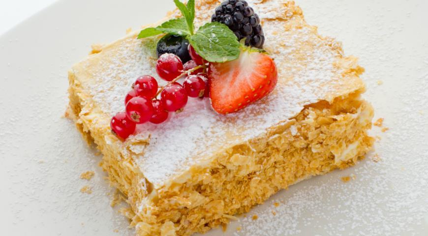 Рецепт Мильфей с ягодами