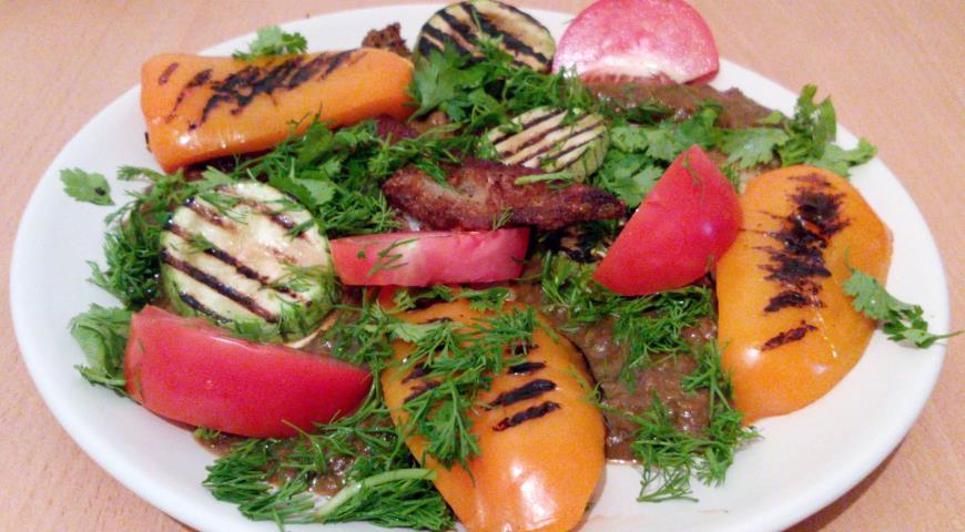 Рецепт Филе морского языка с овощами гриль