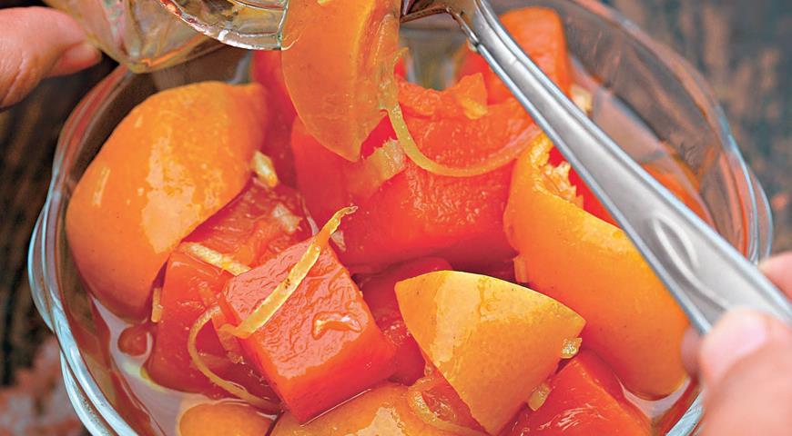 Рецепт Тыквенный конфитюр с мандаринами