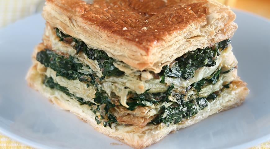 Рецепт Наполеон с зеленью