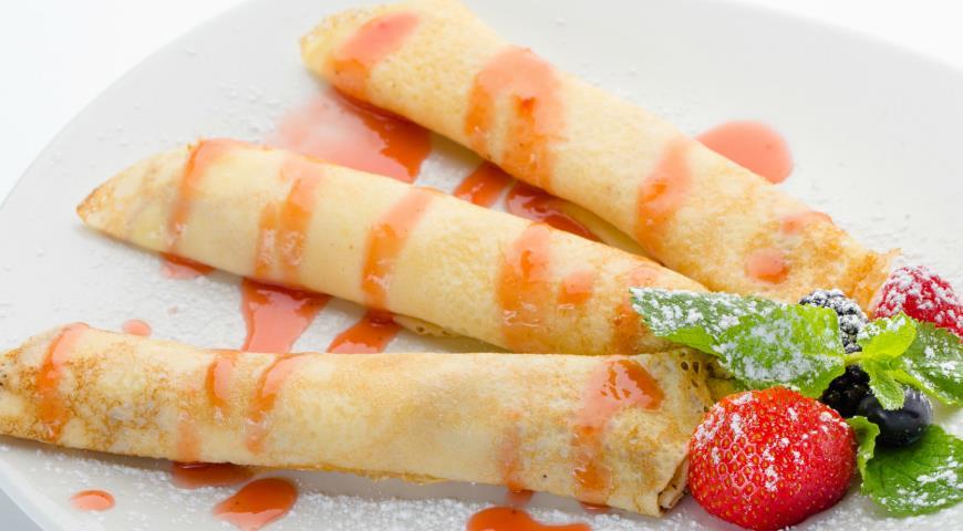 Рецепт Блинчики со сливочным сыром и ягодами