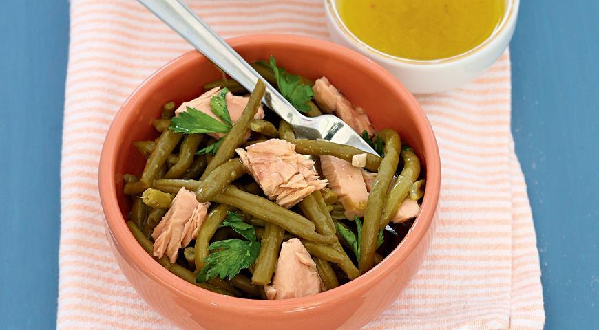 Рецепт Салат из моркови с брынзой и салат из зеленой фасоли